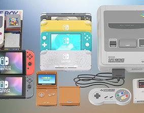 3D Nintendo Console Collection PBR