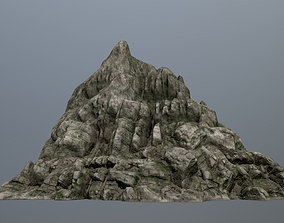 plant 3D model game-ready mountain
