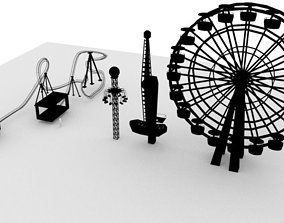 amusement park of 3D model