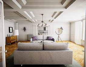 HQ Modular Modern Interior 3D asset