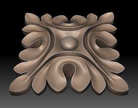 architectural 3D print model Round rosette
