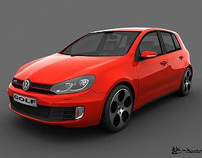 3D model Volkswagen Golf GTI 5doors 2010