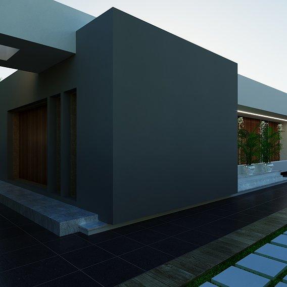 3D model of a ground villa 3D model 3D model