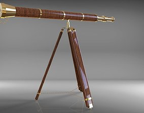3D model telescope antique