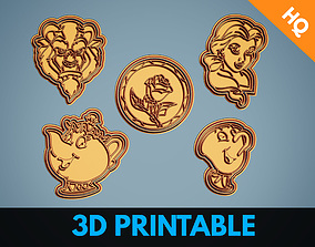 Beauty and the Beast Animation Cookie Cutters Package 3D