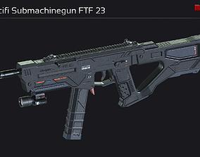 Scifi Submachinegun FTF 23 3D model