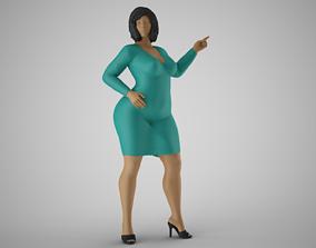 Female Presenter 3D printable model