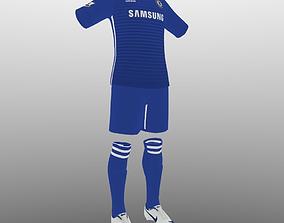 Chelsea home soccer kit 3D model
