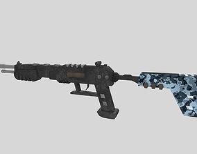 3D asset no brand low poly shotgun 1