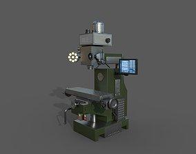 Milling Machine - Low Poly Model 3D asset