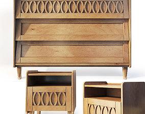 Dresser and nightstand Malu LA REDOUTE INTERIEURS 3D