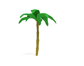 3D model realtime Low Poly Palm Tree