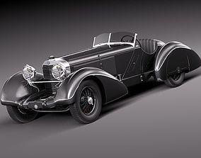 3D model Mercedes-Benz 710 SSK Trossi Roadster 1930