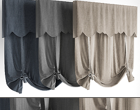 3D model Roman blinds 20