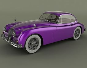 3D Jaguar XK150 Coupe