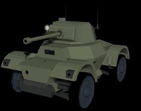 Daimler Mk1 LowPoly isometric WW2 3D asset