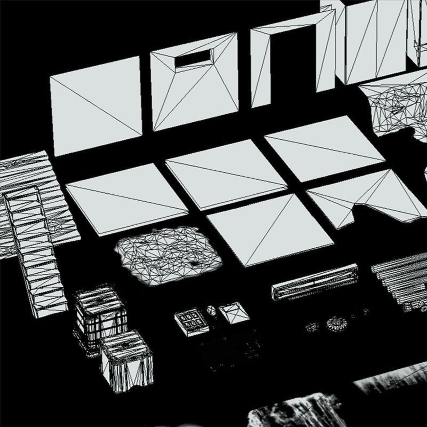 Urban Basement Places Low-poly 3D pack