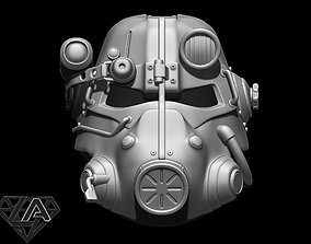 Fallout T-45D custom helmet 3D print model