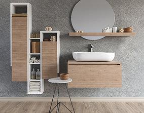 3D model Set of bathroom furniture 3