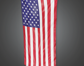 Large Flag - HSG - PBR Game Ready 3D model