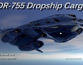 3D DR-755 Dropship Cargo Spaceship