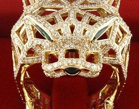 3D printable model cartier tiger ring