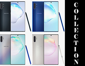 Samsung Galaxy Note 10 Plus All Colors 3D model smartphone