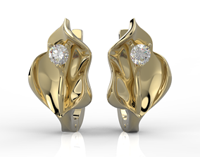 3D print model Callas earrings