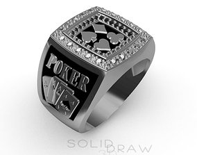 3D print model Ring Poker Diamond Joker