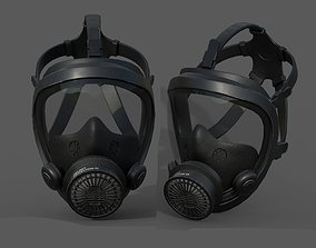 Gas mask helmet 3d model military combat VR / AR ready 1