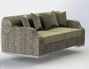 seating sofa with round back 3D