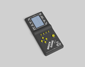 Brick Game Console 3D model