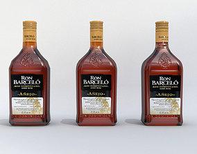 3D Barcelo alcohol Bottle Low-poly 3D model realtime