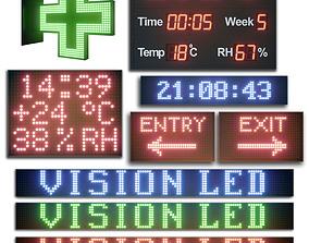 3D LED display modules Set 02
