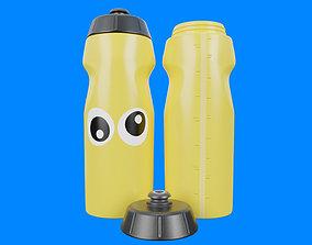 Yellow Water Bottle 3D asset