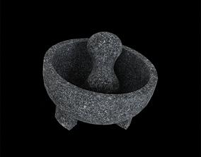 3D model Granite Molcajete dark Grey