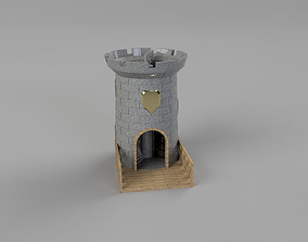 Medieval Dice tower 3D printable model