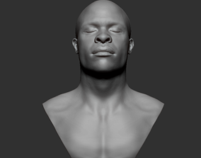African Male Bust 3D