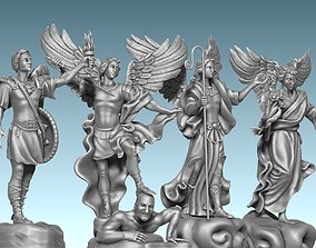 The Four Archangels - CNC Rounting - Wood 3D print model 3