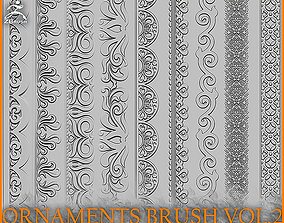 3D Ornaments Brush for ZBrush vol 2