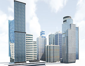 3D asset Skyscrapers Building Pack