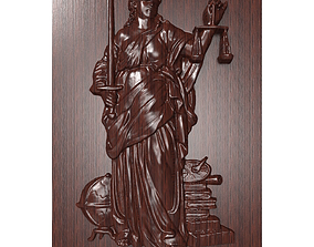 Themis bas relief for CNC 3D printable model