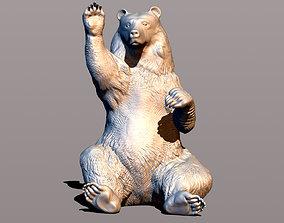 3D print model Bear waving paw