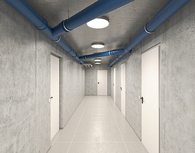 3D Basement Hallway