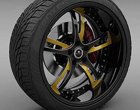 3D Savini Forged SV-32S Wheel and Tire