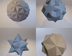 A set of fractal three-dimensional 3D print model 2