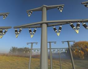 3D model Concrete Electricity Pole without Ladder - 1