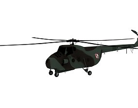 low-poly Lowpoly Mi-4 Hound 3D Model