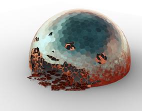 3D asset Damaged Martian Dome