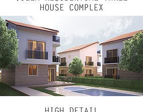 Villa Residential - Three House Complex 3D